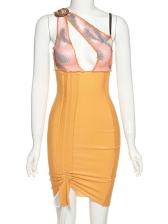 Chic Design Hollow Out Irregular Sleeveless Dress