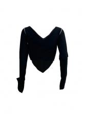 Solid Irregular Long Sleeve T Shirts For Women