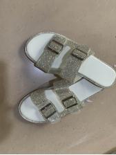 Euro Rhinestone Beach Womens Slippers
