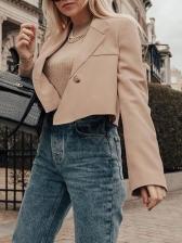 Elegant Lapel Long Sleeve 2 Piece Outfits