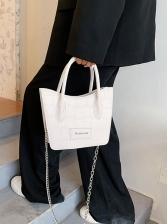 Stone Pattern Vintage Chain Shoulder Bag