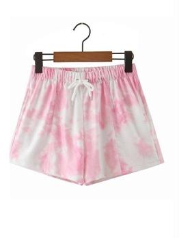 Euro Tie Dye Drawstring Short Pants