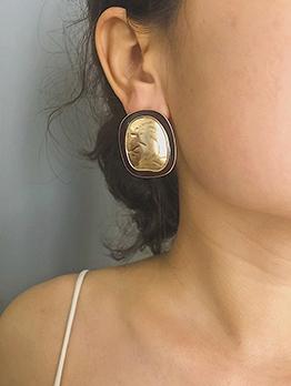Vintage Contrast Color Trendy Earrings
