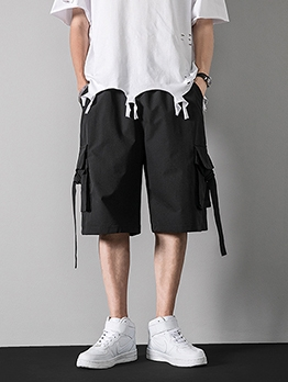 Summer Loose Half Length Cargo Pants