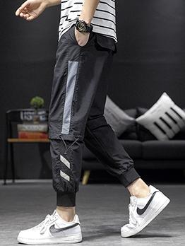 Trendy Contrast Color Cargo Pants For Men