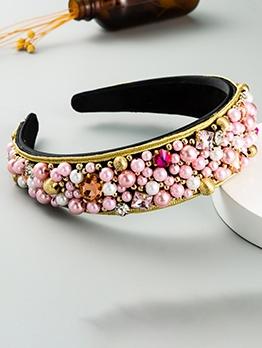 Fashion Luxury Design Rhinestone Beading Hair Hoop