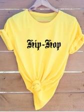 Plus Size Short Sleeve Letter T Shirt Printing