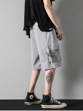 Summer Loose Half Length Cargo Pants