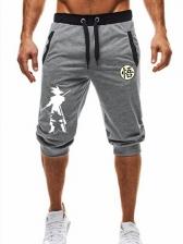 Summer Casual Mens Jogger Capri Pants