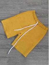 Summer Pure Color Casual Half Pants