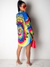 Fashion Eyes Printed Women Shirt Dress