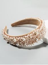 Luxury Faux-Pearl Catwalk Hair Hoop