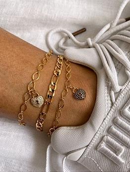 Fashion Beach Heart Pop Anklets Chain