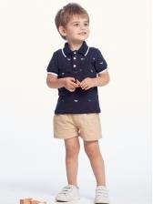 Cartoon Printed Short Sleeve Boys Short Set