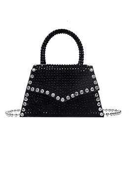 Trapezoidal Rhinestone Beads Strap Shoulder Bags