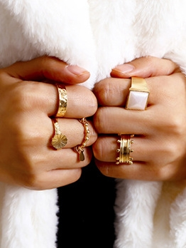 Ins Style High Quality Alloy Rings Set