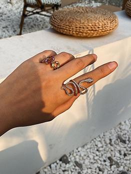 Irregular Snake Shape Women Ring Sets