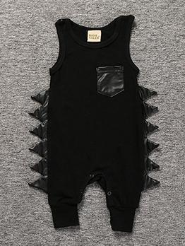 Summer Fashion Sleeveless Patchwork Cotton Baby Sleepsuits