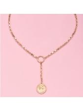 Simple Style Portrait Pendant Chain Necklace
