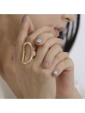 Funk Style o Shape Women Ring