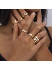 Geometric Shape Women Rings Set