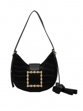 Stone Grain Solid Color Over The Shoulder Bags