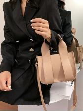 Rivets Bottom Removable Belt Ladies Handbags