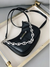 Removable Chain Solid Color Women Crossbody Bags
