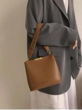 Simple Style Solid Color Shoulder Bag For Women
