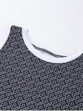Letter Shoulder Cut Long Sleeve Cropped t Shirt