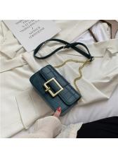 Chain Hasp Versatile Women Shoulder Bag