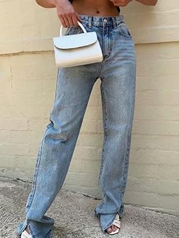 Easy Matching Straight Women Denim Jeans