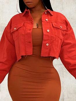 Sexy Solid Street Wear Coat For Women