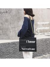 Fashion Letter Shoulder Bag With Handle Women