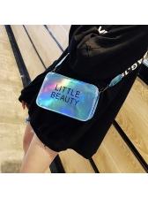 Simple Design Letter Small Square Crossbody Bag
