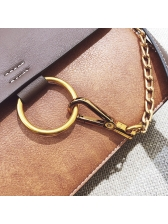 Simple Circle Decorated Personality Shoulder Bag With Handle