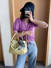 Fashion Bow Knot Decorated Women Handbag Shopping