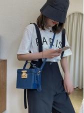 Fashion Stone Pattern Crossbody Box Bag Women