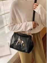 Korean Animal Patchwork All-Match Shoulder Bag Fashion