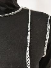Mock Neck One Shoulder High Waist Tracksuit Set