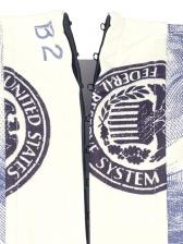 Dollar Printed Strapless Corset Tank Top