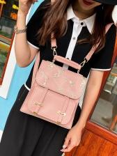 Preppy Style Fresh Print Summer Backpack Women