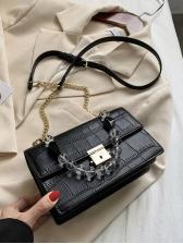 All-Match Crocodile Pattern Beading Crossbody Bag Fashion