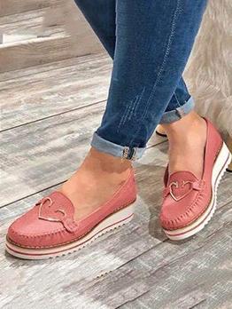 Chic Heart Decor Women Cheap Elevator Shoes