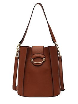 Removable Strap Solid Bucket Shoulder Bags