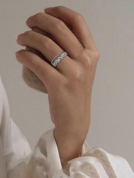 Women Personality All-Match Accessory Fresh Glitter Ring