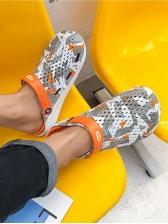 Fashion Printed Closed Toe Slip On Slippers