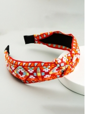 National Style Embroidery Knot Hair Hoop Women