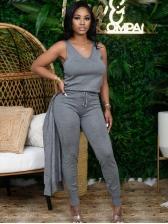 Fashion Casual Three Pieces Trouser Set
