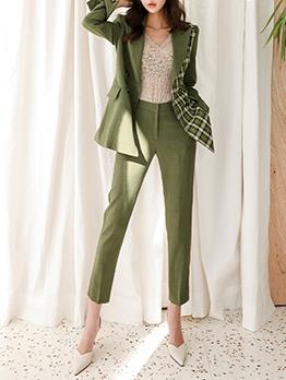 Formal Plaid Business Suit For Women
